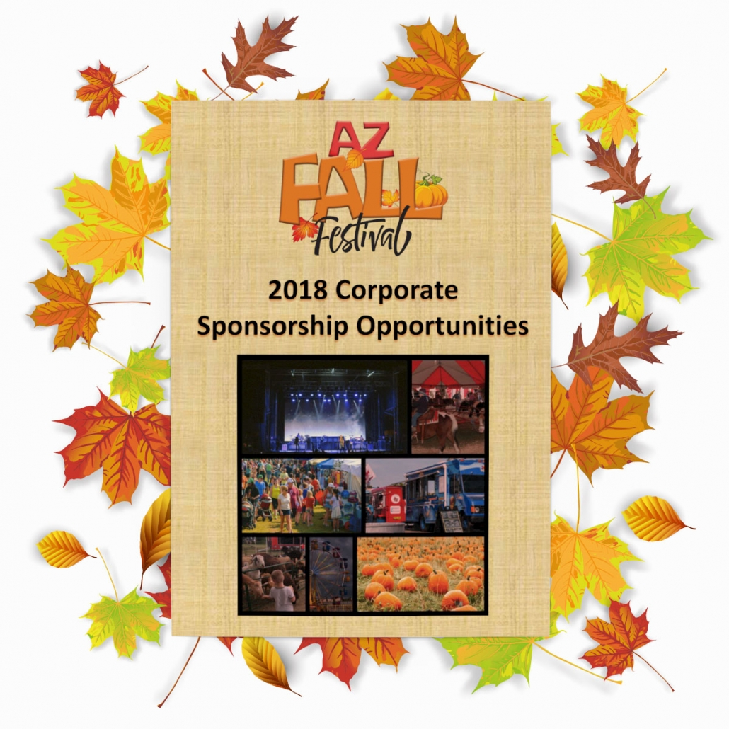 AZ Fall Festival 2018 Corporate Sponsorship Deck with Fall Leaves